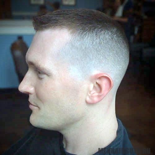 Прическа Crew Cut - вариант для мужчин с залысинами, фото #4